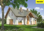 Проект одноэтажного дома с мансардой  - Муратор М118а